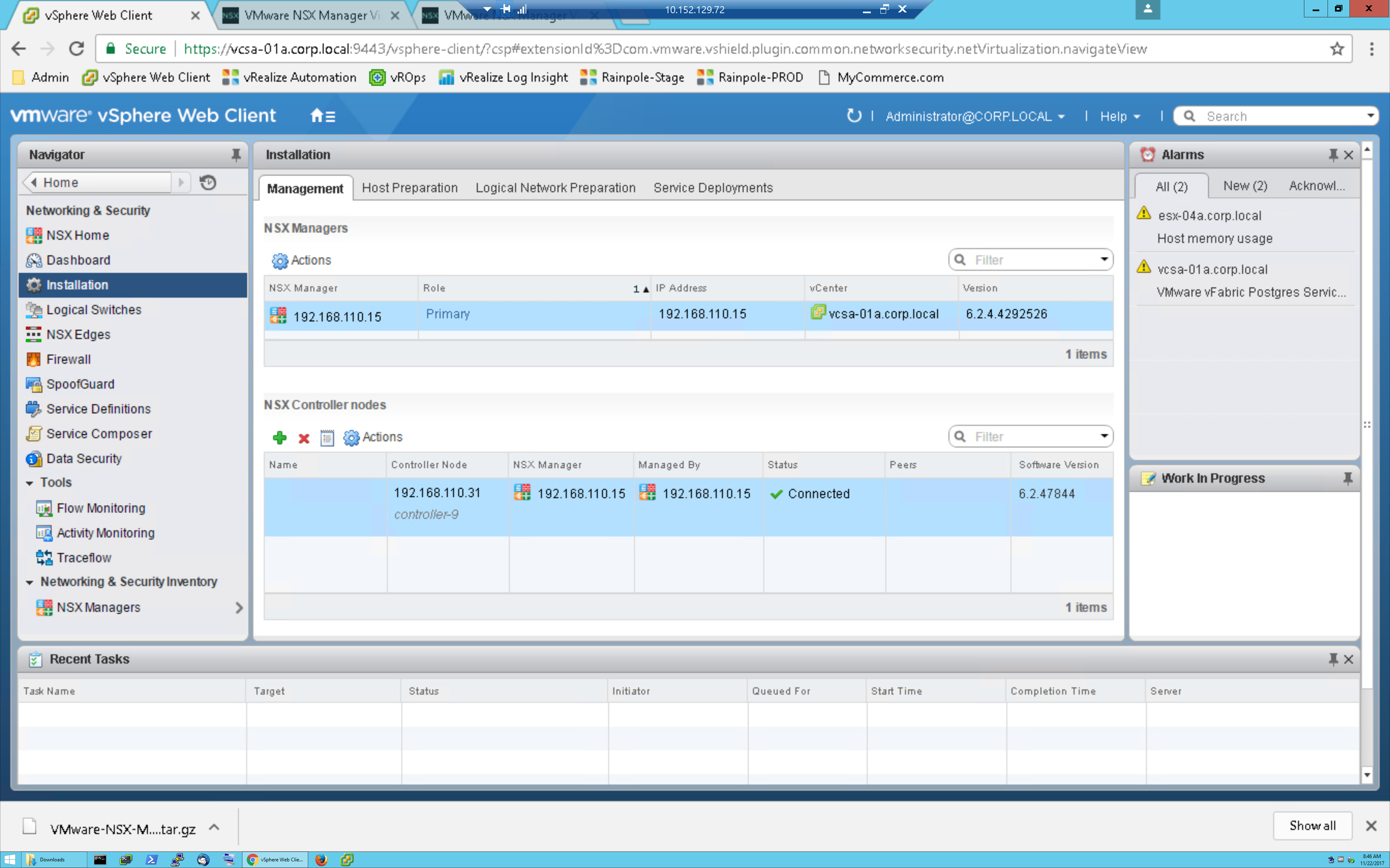 VMware NSX 6 3 5 Upgrade Process with Step-by-Step